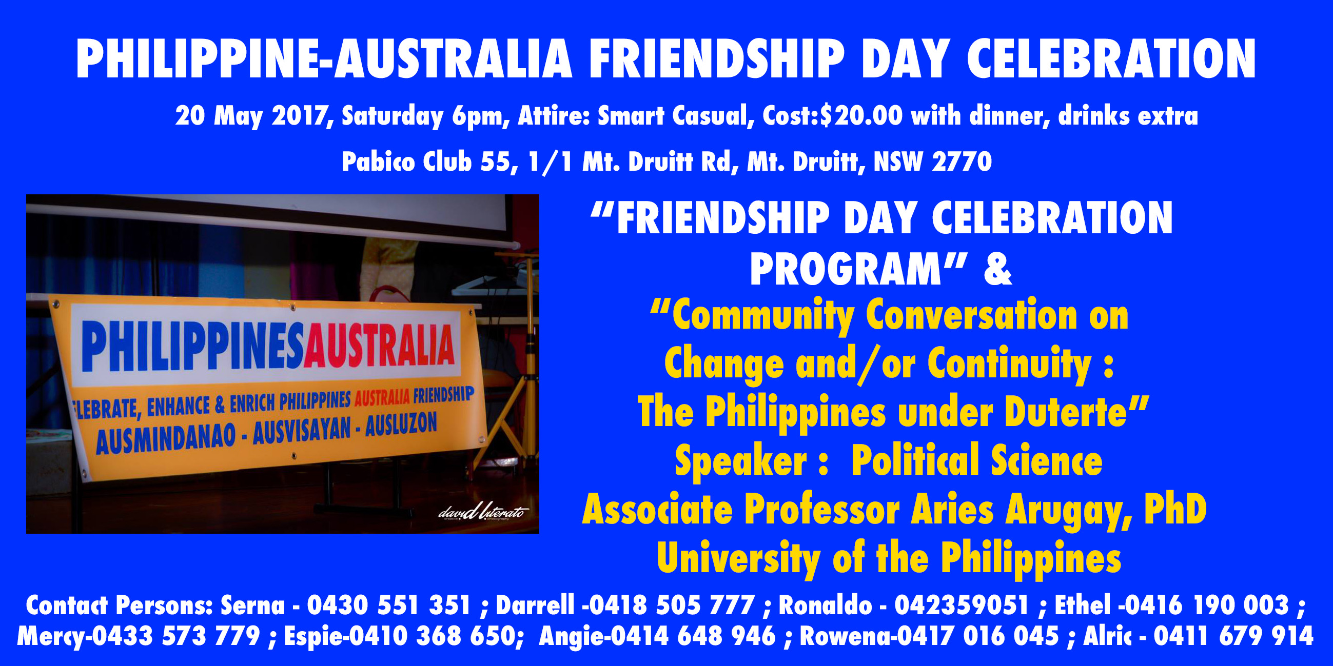 Philippines Australia Friendship Day 2017 on May 20