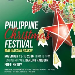 Philippine Christmas Festival Sydney, Philippine Pasko Festival Sydney, Serna Ladia, PCCNSW, Australia Mindanao, AusMindanao, Australia Luzon, AusLuzon, Australian Visayan, Ronaldo Villaver