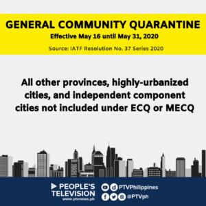 GCQ 16 to 31 May 2020