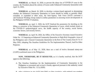 IATF Resolution Number 37