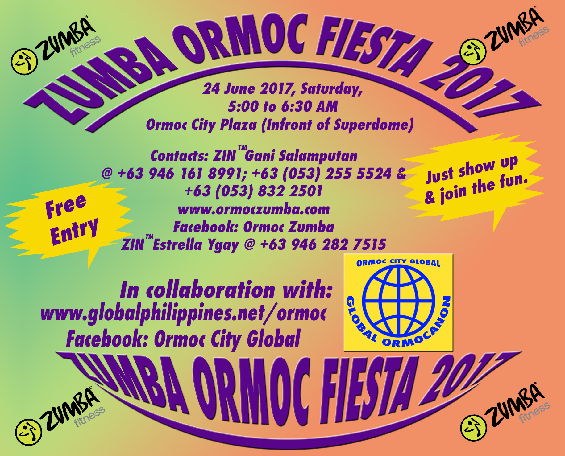Zumba Ormoc City Fiesta 2017.