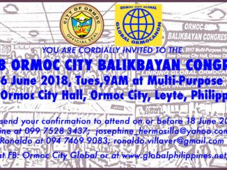 2018 Ormoc Balikbayan Congress