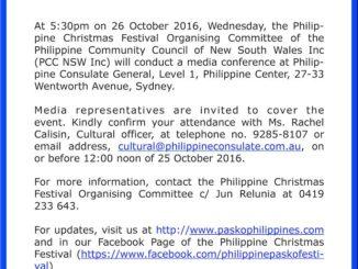 Philippine Christmas Festival Sydney, Pasko