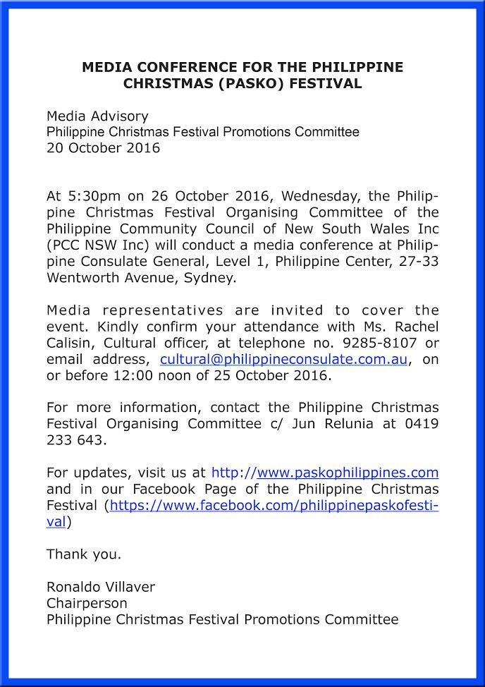 Philippine Christmas Festival Sydney, Pasko Philippines Sydney, PCCNSW, Ronaldo Villaver