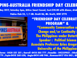 2017 Philippines Australia Friendship Day on May 20.